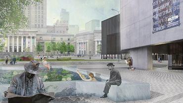 Zwycięski projekt placu Centralnego (wizualizacja)