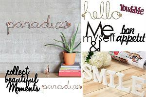 TREND: dekoracyjne napisy i naklejki