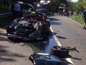 rozbity Mercedes 300SL