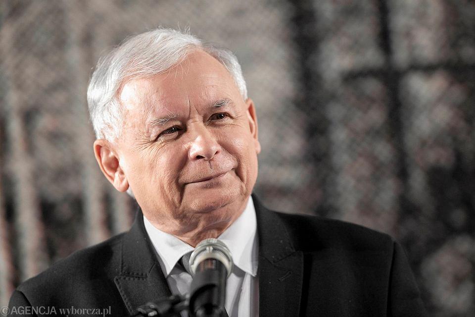 Jarosław Kaczyński podczas konwentu Prawa i Sprawiedliwości w Krakowie