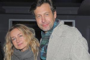 Szymon Majewski z żoną.