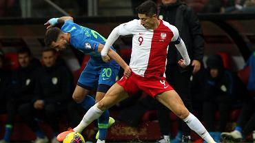 Robert Lewandowski podczas ostatniego meczu reprezentacji Polski. Ze Słowenią w listopadzie 2019 roku