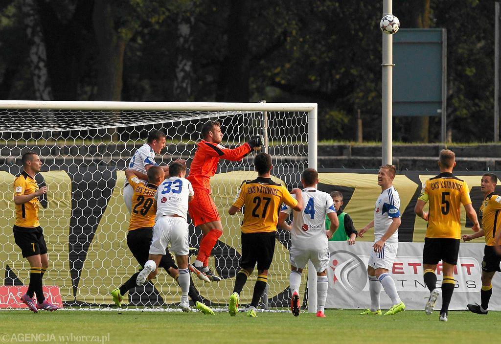 Antonin Bucek w meczu GKS - Wigry Suwałki 0:1