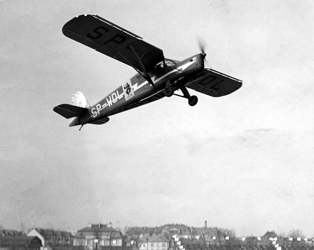 Samolot reklamowy RWD E.Wedel