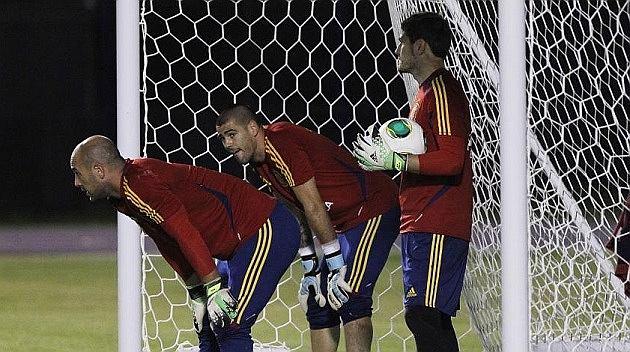 Pepe Reina, Victor Valdes, Iker Casillas