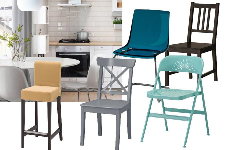 Krzesła kuchenne IKEA - różne modele