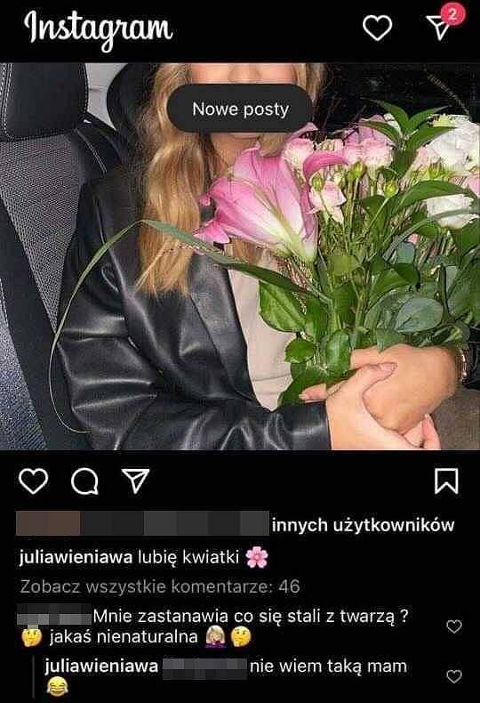 Julia Wieniawa odpowiada na zaczepkę internautki