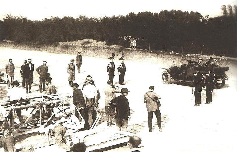 Inauguracja budowy autostrady do jezior, 1924 r.