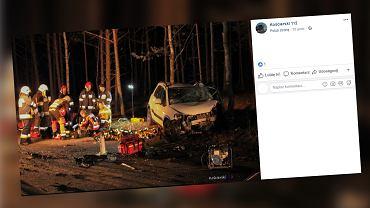 Tragedia w powiecie kościerskim. W wypadku samochodowym zginęły dwie osoby