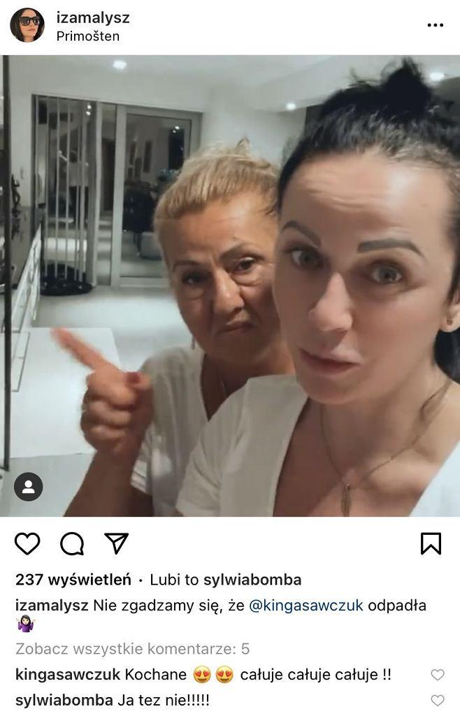Iza Małysz z mamą