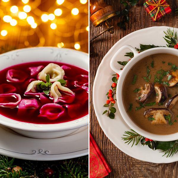 czerwony barszcz na zakwasie z buraków i grzybowa to nasz dwie ulubione zupy wigilijne