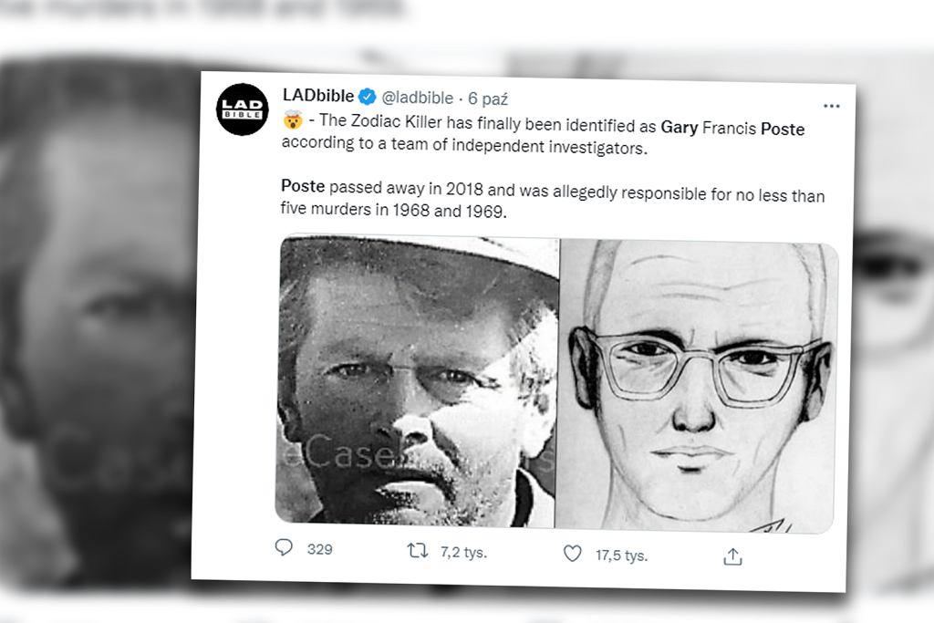 Gary F. Poste oraz Zodiak z portretu pamięciowego