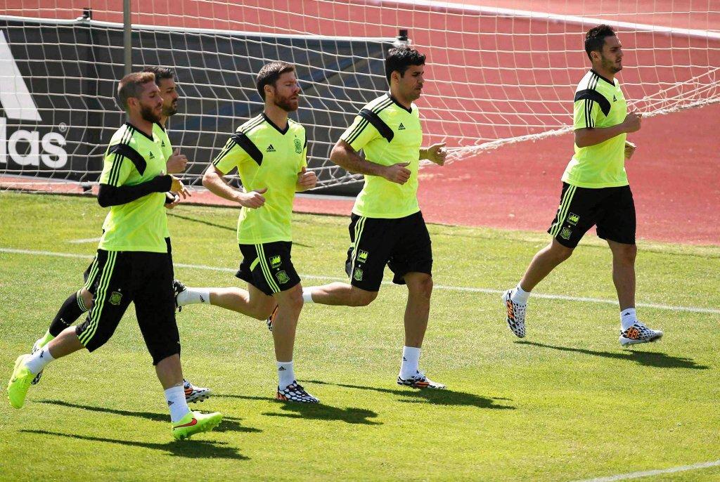 Sergio Ramos, David Villa, Xabi Alonso, Diego Costa i Koke