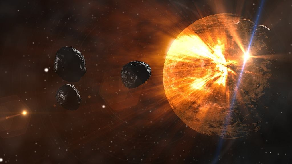 Asteroidy (grafika pixabay)