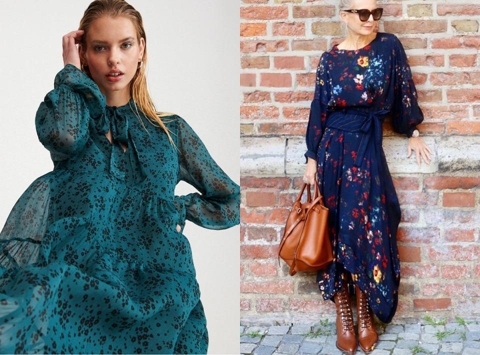 Sukienki maxi dla dojrzałych kobiet  z wyprzedaży