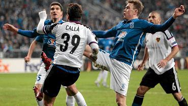 Lech Poznań - FC Basel 0:1. Maciej Gajos
