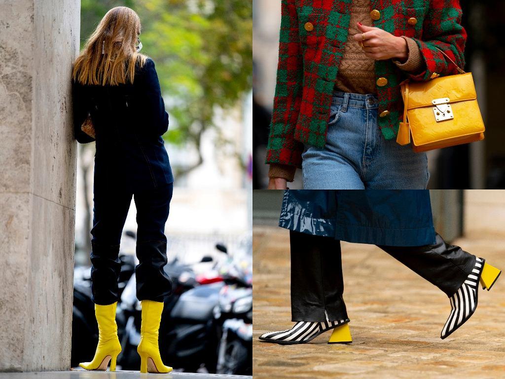 dodatki w modnym odcieniu żółtego