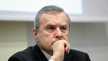 Minister kultury Piotr Gliński. Zdjęcie z konferencji prasowej dotyczącej stworzenia scenariusza filmu fabularnego z zakresu historii Polski