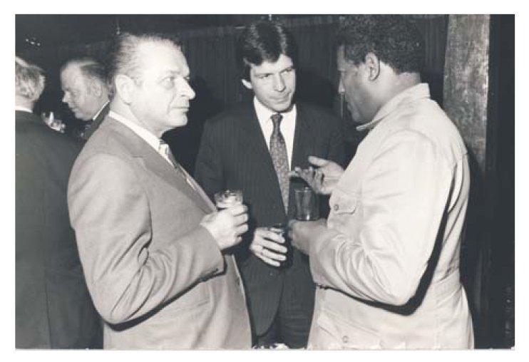 Aleksander Makowski z Czesławem Kiszczakiem w Etiopii, połowa lat 80. Polski szpieg przydał się jako tłumacz