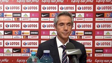 Paulo Sousa na konferencji reprezentacji Polski