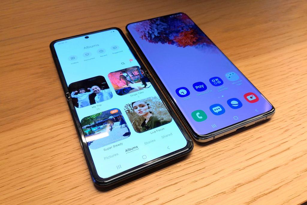 Samsung Galaxy Z Flip i Galaxy S20+
