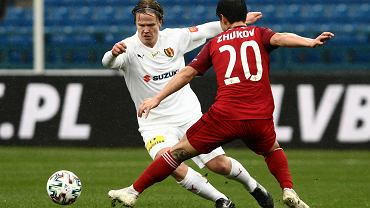Petteri Forsell podczas meczu Wisła Kraków - Korona Kielce