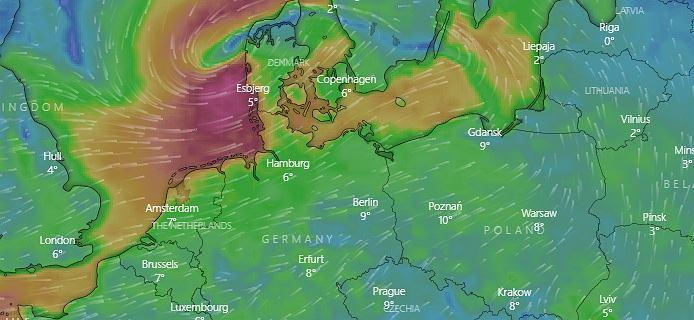 Niż Zehna nad Europą. Pogoda będzie bardzo zmienna. W całym kraju opady śniegu