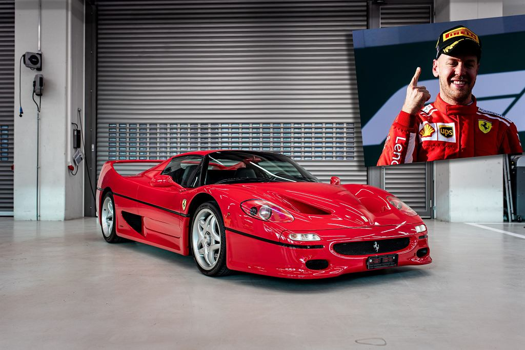 Sebastian Vettel i Ferrari F50