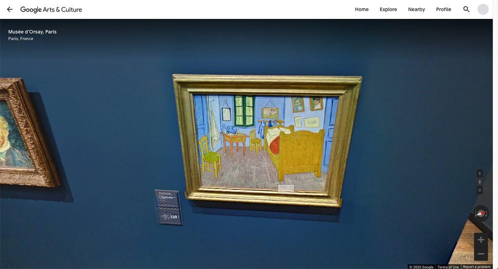 Musee d'Orsay - obraz 'Pokój van Gogha w Arles'