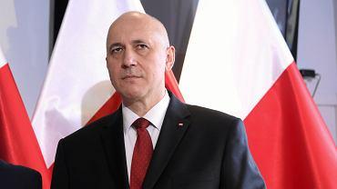 Minister spraw wewnętrznych Joachim Brudziński