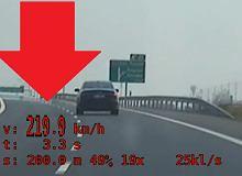 Kierowca audi jechał 219 km/h. Nagrała i złapała go grupa Speed. Kara? Wcale nie taka wysoka