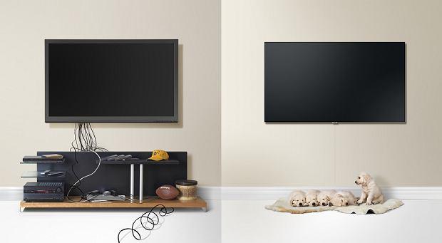 Zwykły telewizor i telewizor Samsung QLED