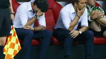 Niemcy - Włochy 2:1. Joachim Loew (z lewej)