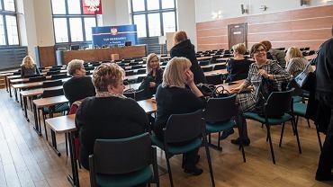 20.04.2017 Wrocław, Sąd Okręgowy. Protest sędziów i prokuratorów