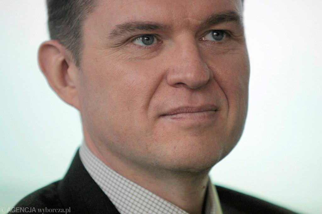 Dziennikarz i działacz Związku Polaków na Białorusi Andrzej Poczobut, 16 grudnia 2013 r.