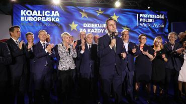 26.05.2019, Warszawa, Władysław Kosiniak-Kamysz podczas wieczoru wyborczego Koalicji Europejskiej