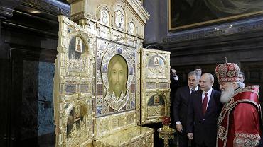 Rosyjski Kościół Prawosławny Patriarcha Moskwy Cyryl I i prezydent Rosji Władimir Putin