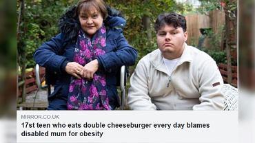 17-latek jadł codziennie hamburgery