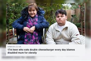 17-latek codziennie jadł podwójnego cheeseburgera. Skutki są opłakane. Wini mamę