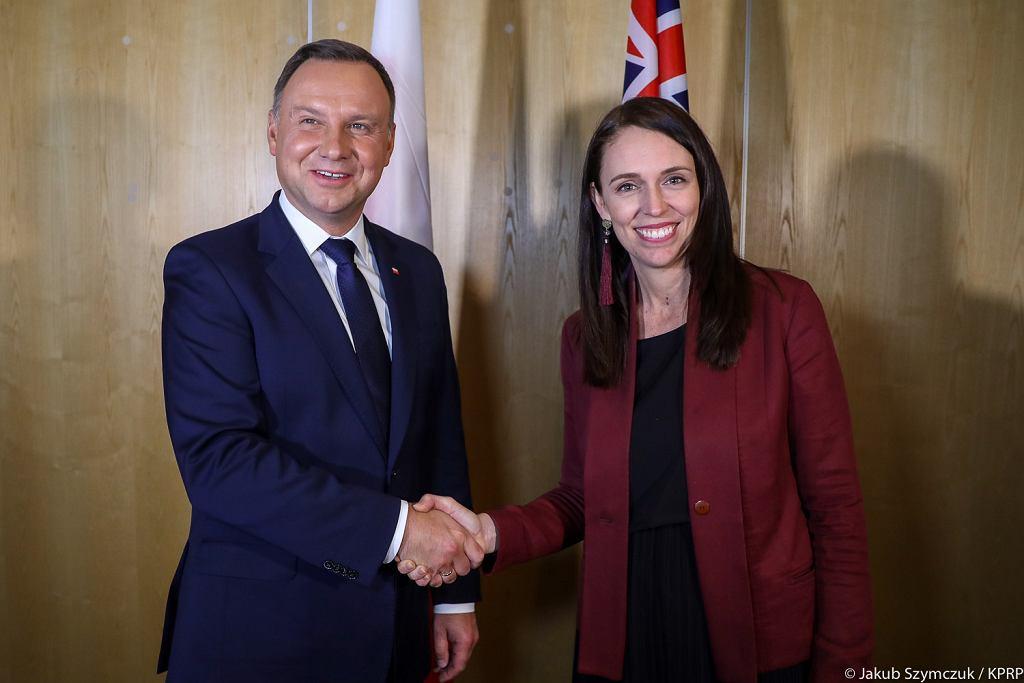 Spotkanie Prezydenta RP Andrzeja Dudy z premier Nowej Zelandii Jacindą Ardern