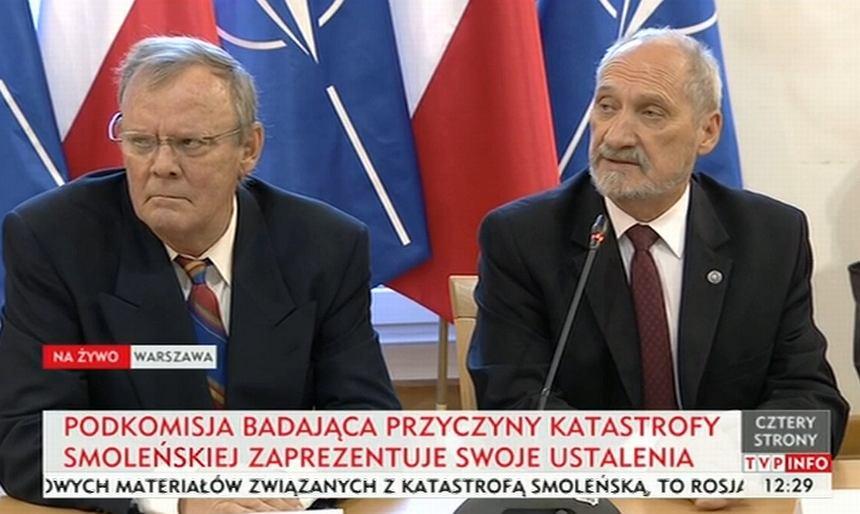 Konferencja prasowa podkomisji MON ds. zbadania katastrofy smoleńskiej