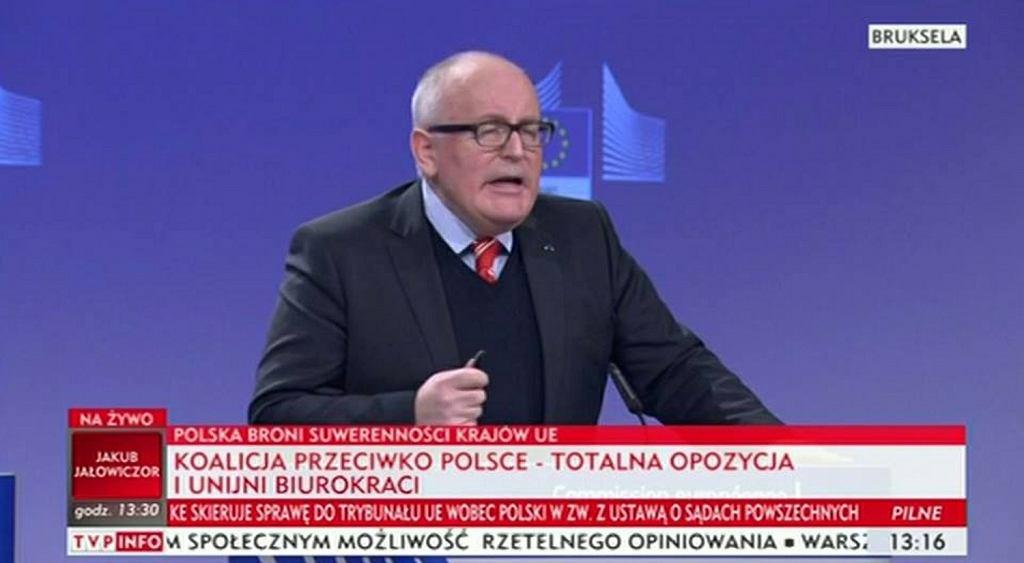 Paski TVP po decyzji KE dot. uruchomienia artykułu 7 wobec Polski