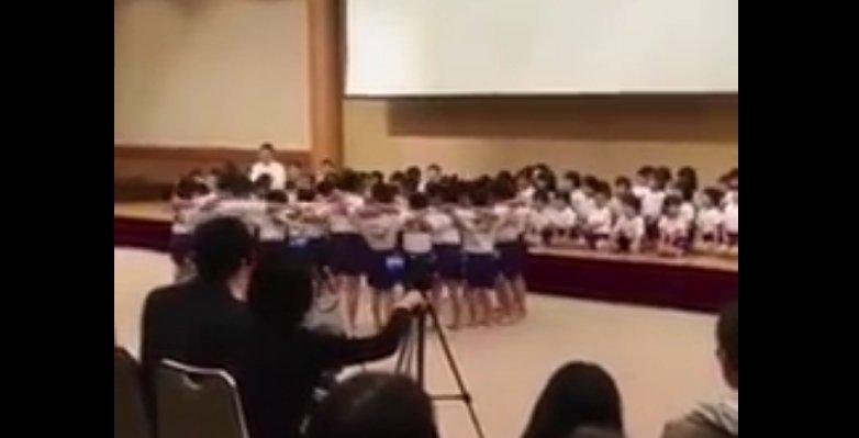 Gimnastyka w japońskiej szkole