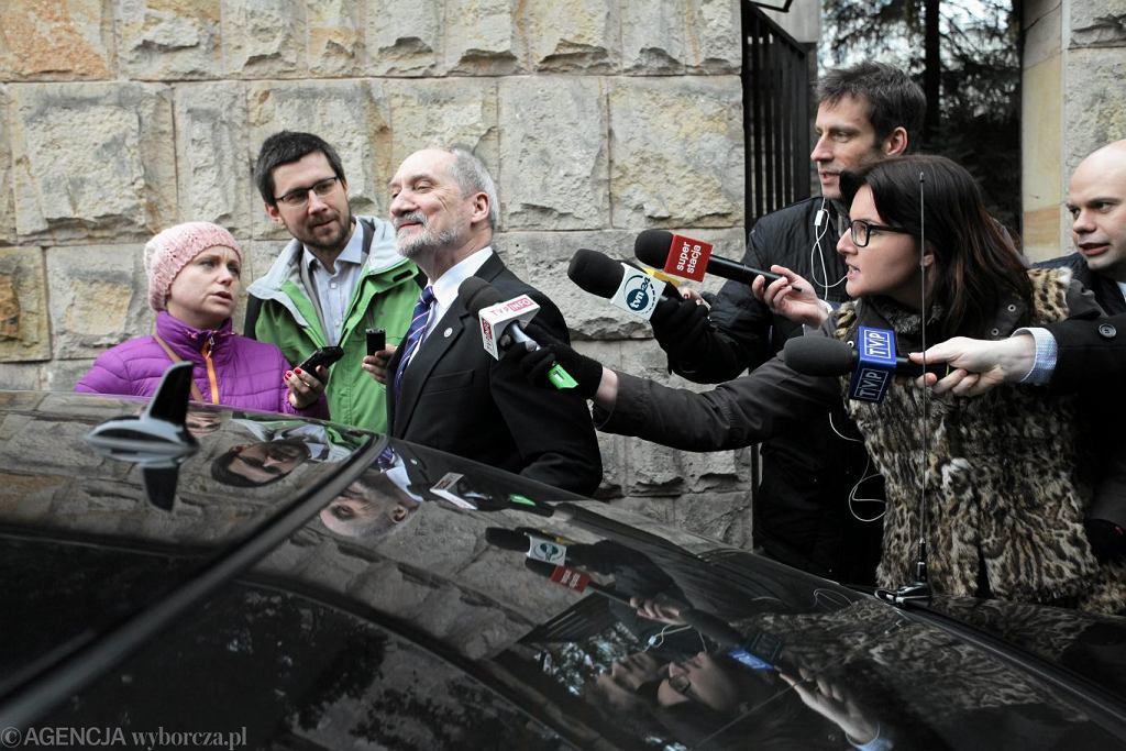Były minister obrony narodowej Antoni Macierewicz