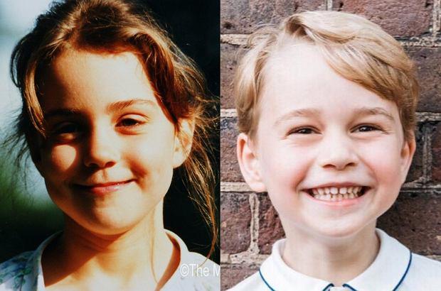 Księżna Kate i książę George w wieku 5 lat