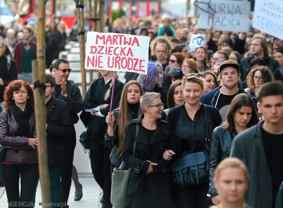 Czarny protest w Katowicach, 25.09.2016