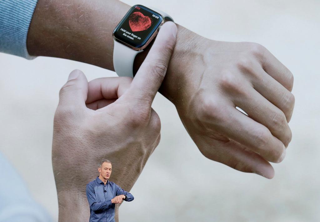 Apple Watch Series 4 ma funkcję podstawowego EKG