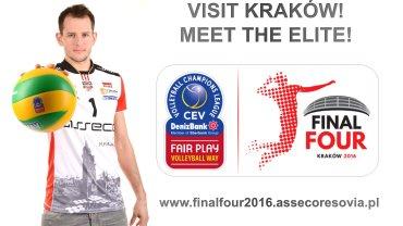 Siatkarze Asseco Resovii zawitają do Krakowa, by promować Final Four Ligi Mistrzów