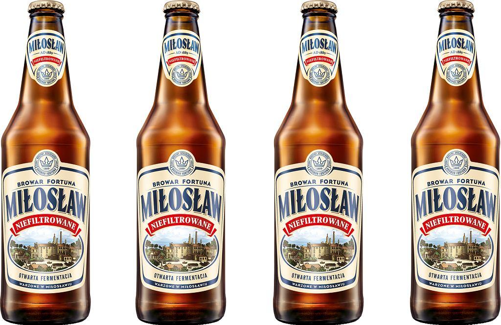 Piwo Miłosław niefiltrowane
