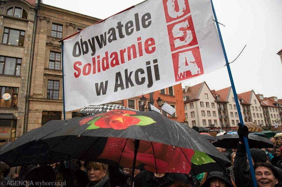 Protest we Wrocławiu przeciwko zaostrzeniu prawa aborcyjnego